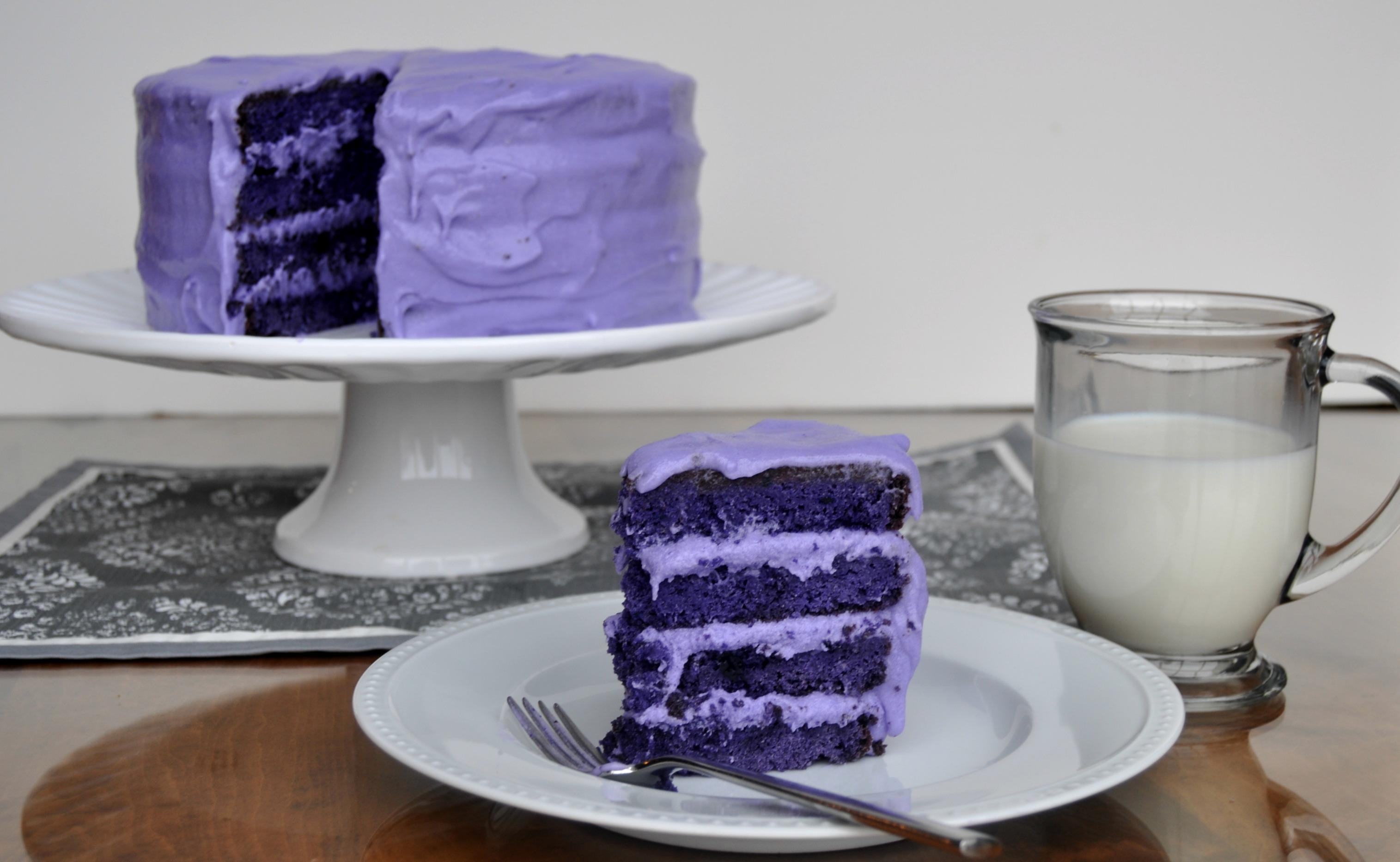 Purple Velvet Chocolate Cake