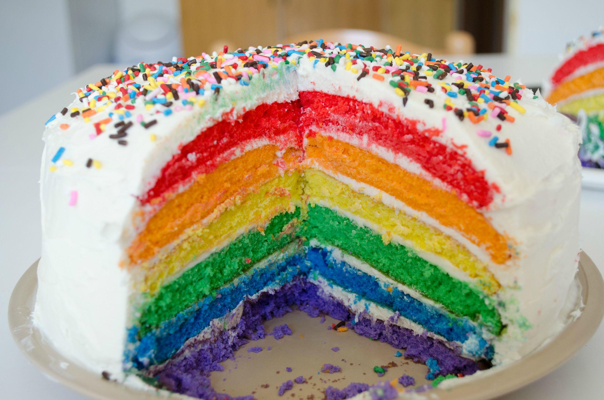 Blue Rainbow Cake