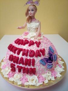 Barbie Doll Fondant Cake Trivandrum Cake House Online Cake Shop In Trivandrum