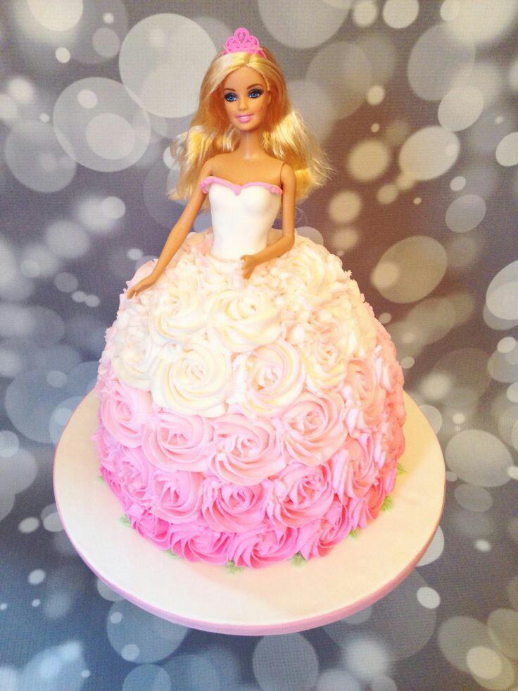 Amazing Fresh Cream Barbie Doll Cake Trivandrum Cake House Online Cake Birthday Cards Printable Opercafe Filternl