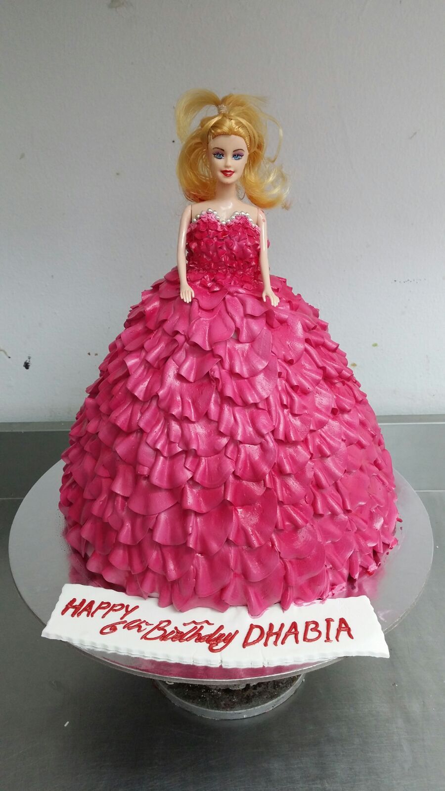 Italian Meringue Barbie Doll Cake